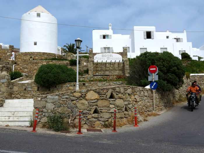 Greece, Greek islands, Cyclades, Mikonos, Mykonos, hotel, building, Porto Mykonos Hotel