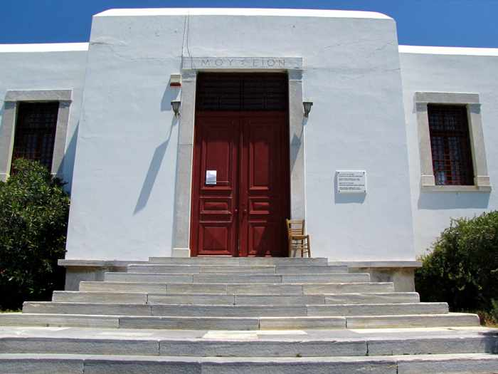Greece, Greek islands, Cyclades, Mikonos, Mykonos, Mykonos Archaeological Museum, Museum, building, archaeological museum