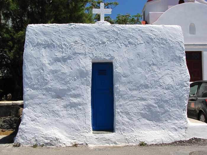 Greece, Greek islands, Cyclades, Mikonos, Mykonos, Mykonos Town, Mykonos Chora, church, chapel, building, architecture