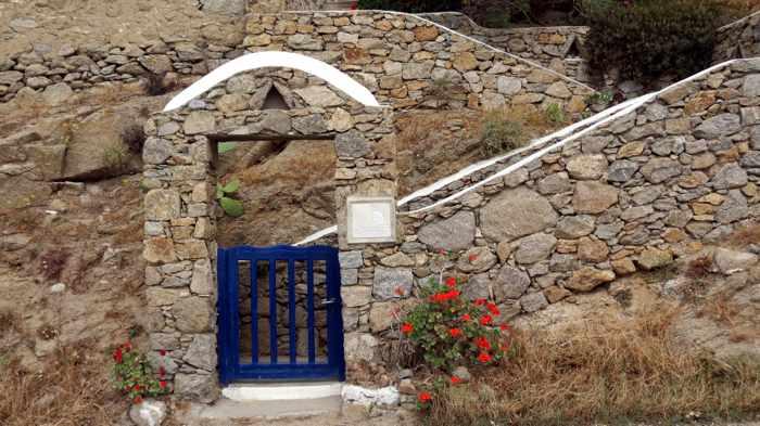 Greece, Greek islands, Cyclades, Mikonos, Mykonos, Tourlos, gate,