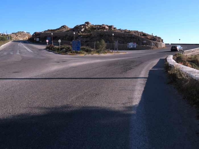 Greece, Greek islands, Cyclades, Mikonos, Mykonos, road, highway, roads to Mykonos Town