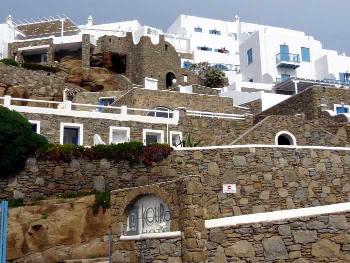 Greece, Greek islands, cyclades, Mikonos, Mykonos, Mykonos Town, hotel, building, luxury hotel, Kouros Hotel, Kouros Hotel Mykonos,