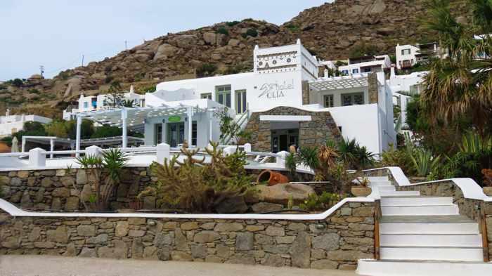 Greece, Greek islands, Cyclades, Mikonos, Mykonos, Tourlos, hotel, Olia Hotel, Olia Hotel Mykonos, building,