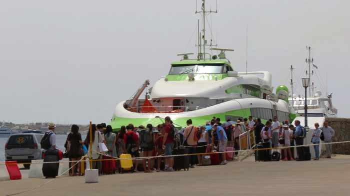 Greece, Greek island, Cyclades, Mikonos, Mykonos, Mykonos ports, Mykonos Old Port, Mykonos Town port, ferry port, ferry,