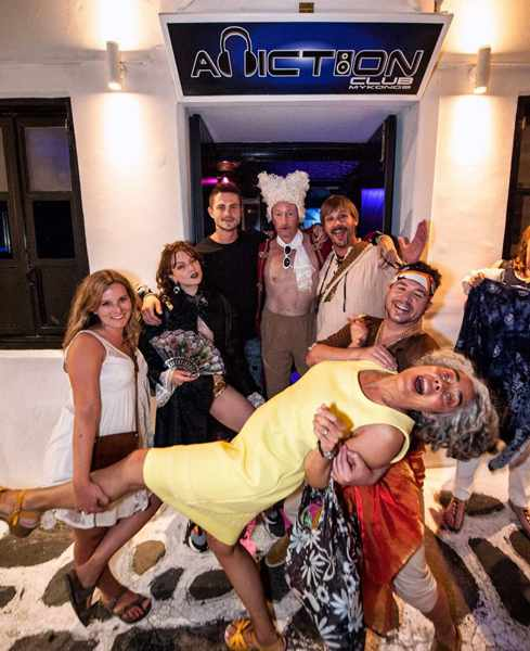 Revellers partying at Addiction Club on Mykonos