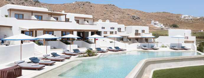 Aegon Mykonos exterior photo from the hotel page on Facebook