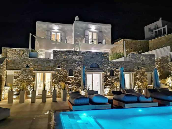 Apiro Mykonos exterior view photo from the hotels official page on Facebook