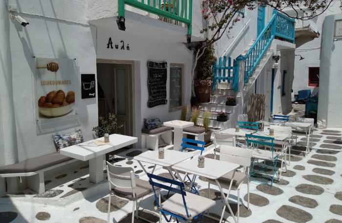 Avli Sweet Bar Mykonos photo shared on Google by Δημητρης Τσιγκος