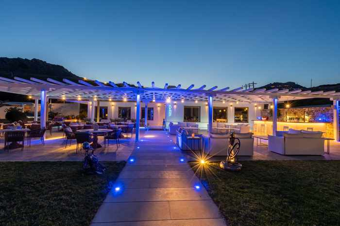 Blue Fusion Art Restaurant Mykonos exterior view photo from the restaurant page on Facebook
