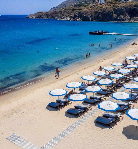Blue Marlin Ibiza Mykonos beachfront photo shared on Google by Stavros Habakis