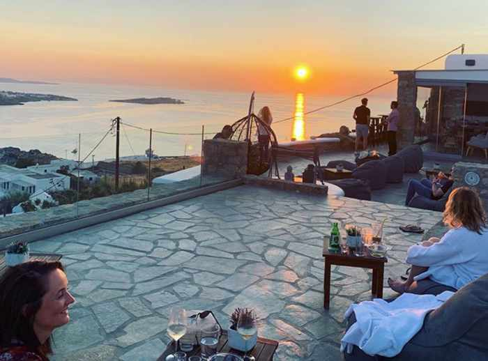 Chill Out Lounge Cafe Bar Mykonos social media photo of its sunset view