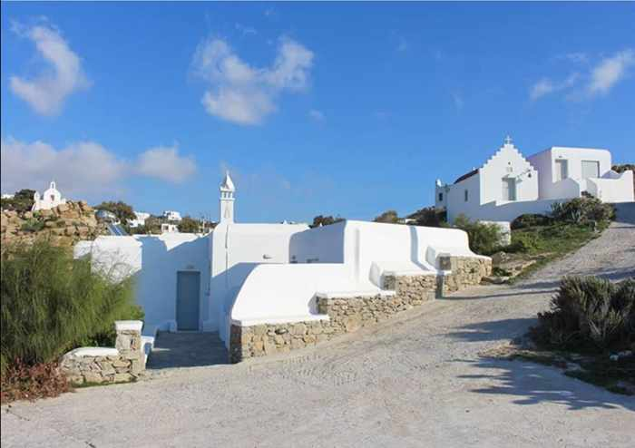 Crystal View Mykonos social media photo showing an exterior view of the apartment buildings