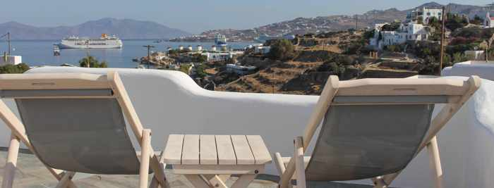 Crystal View Mykonos view photo from the rental property Facebook page