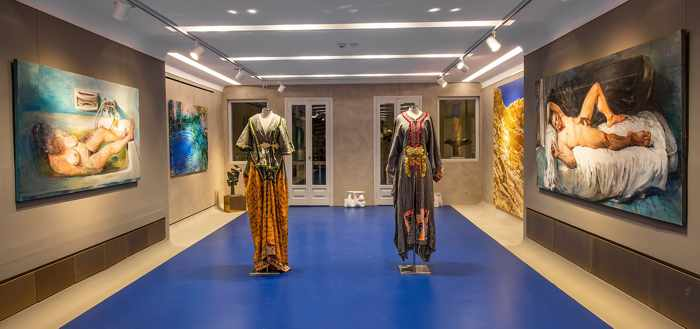 Evripides Art Gallery Art & Fashion Project with Dimitris Ntasios at 30 Kalogera Street in Mykonos