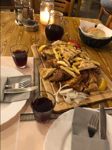 Food photo posted with a TripAdvisor review by Lina E of Taverna Kandavlos Mykonos
