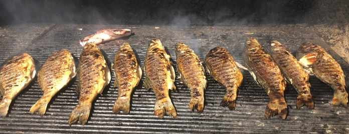 Fresh fish on the grill at Sealicious by Kounelas restaurant on Mykonos