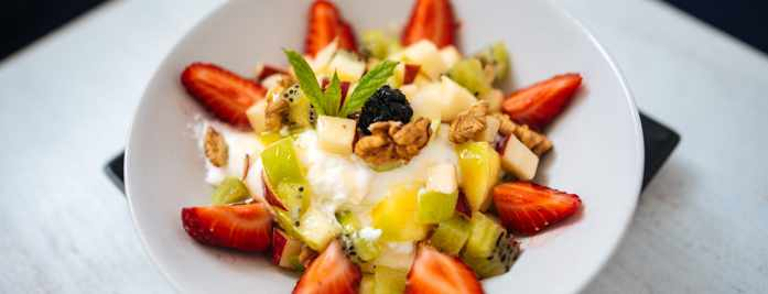 Healthylicious Mykonos breakfast dish seen in a photo from the restaurant page on Facebook