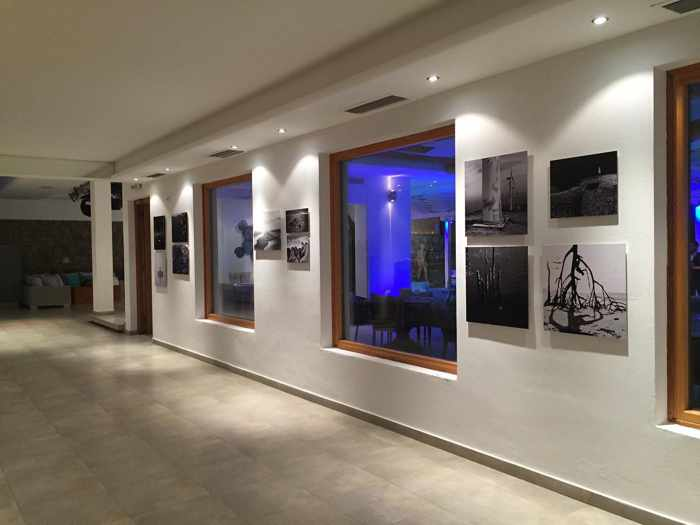 Images from the Reflect On Me photo exhibition at Blue Fusion Art Restaurant Mykonos