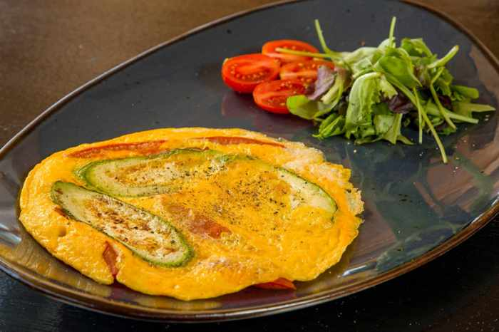 Major J restaurant on Mykonos social media photo of one of its specialty omelets