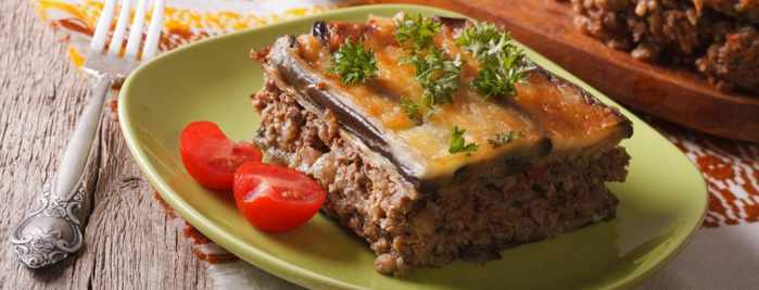 Moussaka photo from the Olive Tree Mykonos restaurant website