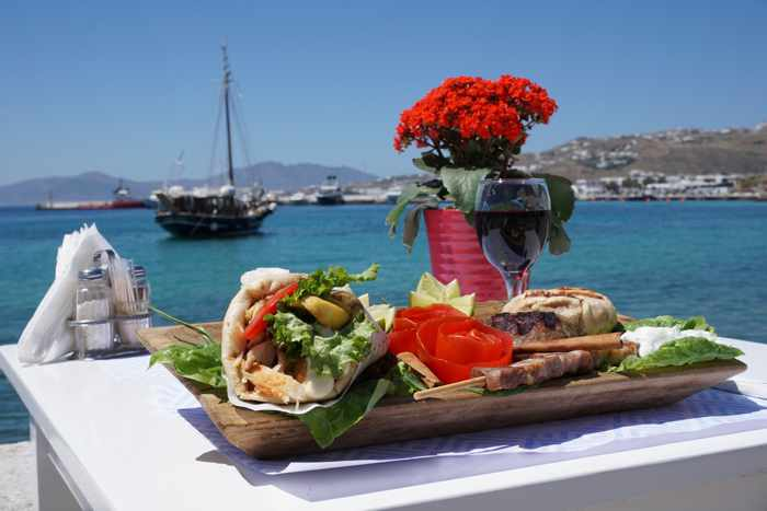 My Plate Mykonos food and view photo from the restaurant page on Facebook