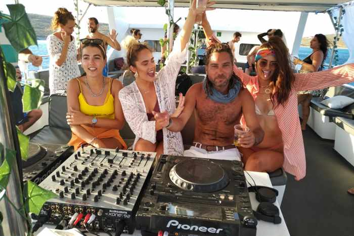 Mykonos Boat Party photo from the company page on Facebook