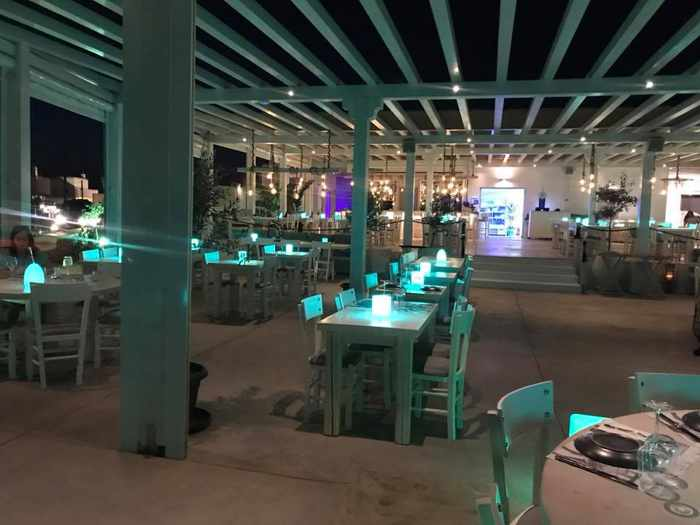 Sealicious by Kounelas restaurant on Mykonos seen in a photo shared on Facebook by Hannah Taylor