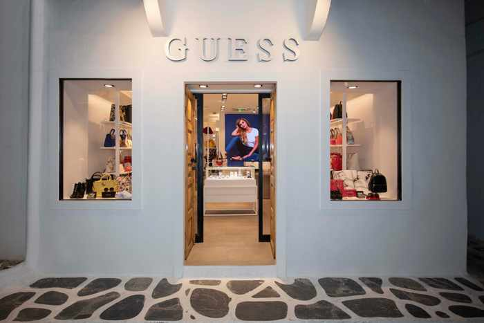 Shop & Trade streetview photo of the new Guess retail shop in Mykonos