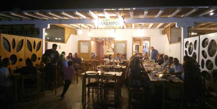 Taverna Kandavlos Mykonos photo from the restaurant Facebook page