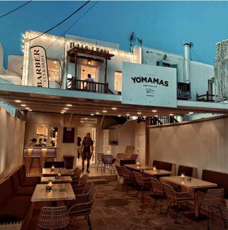 Yomamas street food restaurant Mykonos photo from its page on Instagram
