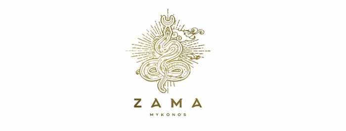 Logo for Zama restaurant on Mykonos