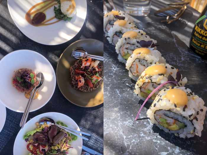 Blue Marlin Ibiza Mykonos social media photos of some of the club's cuisine