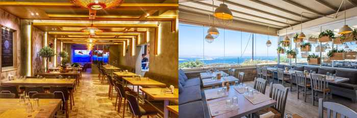 Olive Tree Kitchen & Grill Mykonos dining room photos from its social media pages