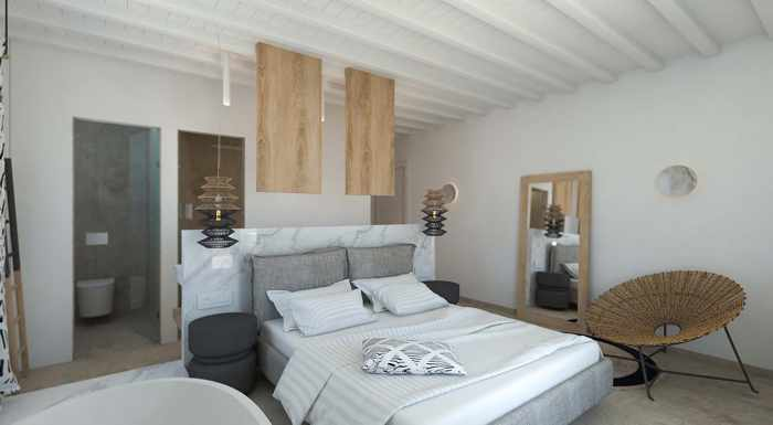Apiro Mykonos photo of a hotel room interior