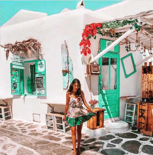 Ice Bar Mykonos seen in a street view photo from the bar page on Instagram