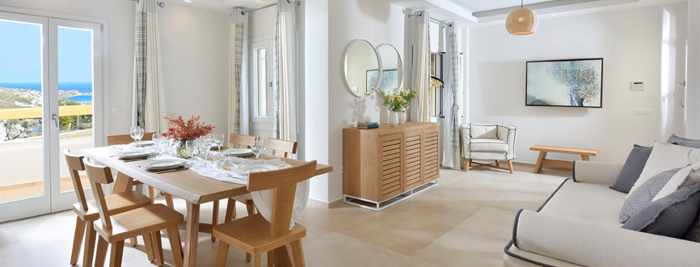 Jennys Summer Houses Mykonos grand villa room interior photo from the property website