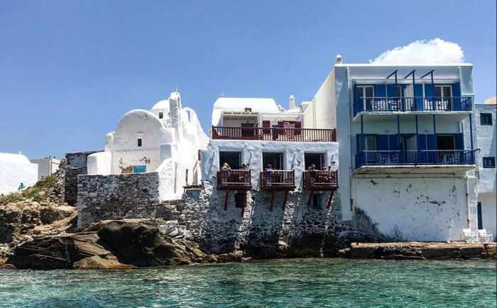 Kastros Restaurant Mykonos seaview photo of its new balconies
