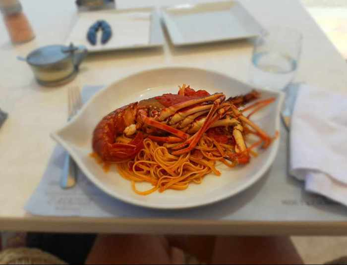 LAragosta lobster pasta photo by TripAdvisor reviewer Francesco Cangiano