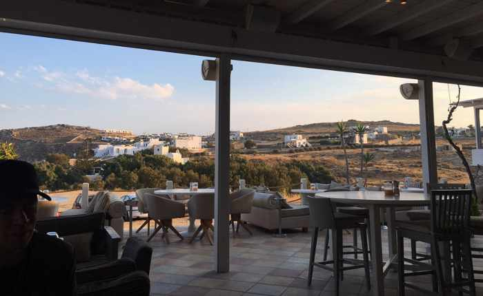 LAragosta restaurant Mykonos patio photo posted on TripAdvisor by reviewer Gee Tee