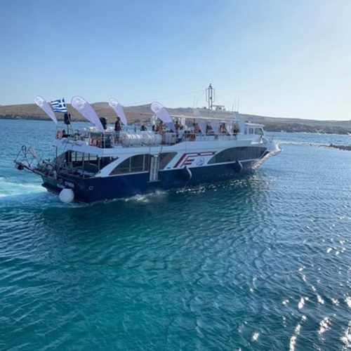 Myk Boat Club party boat photo by Delos Tours
