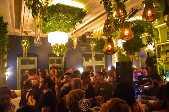 Sanctus Mykonos party scene photo from the nightclubs page on Facebook