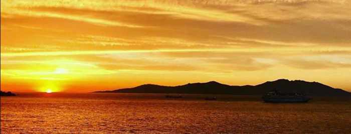 Sunset view from Apiro Mykonos Hotel