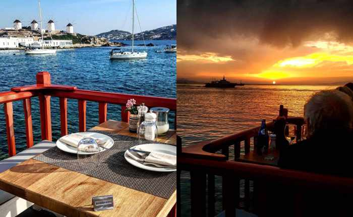 Views from Kastro's Restaurant Mykonos as seen in Instagram photos by zannis_bk