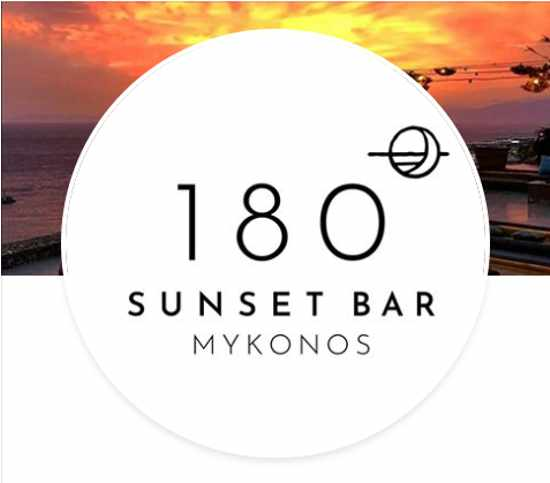 180 Sunset Bar Mykonos official logo