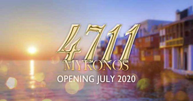 4711 Mykonos nightclub season opening announcement for 2020