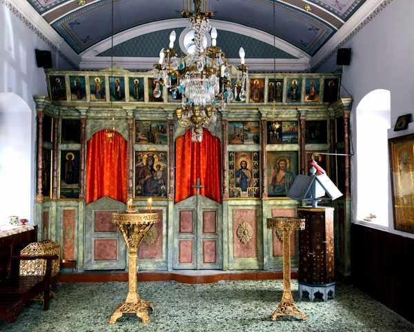 Interior of Agios Nikolaos Church in Molyvos Lesvos
