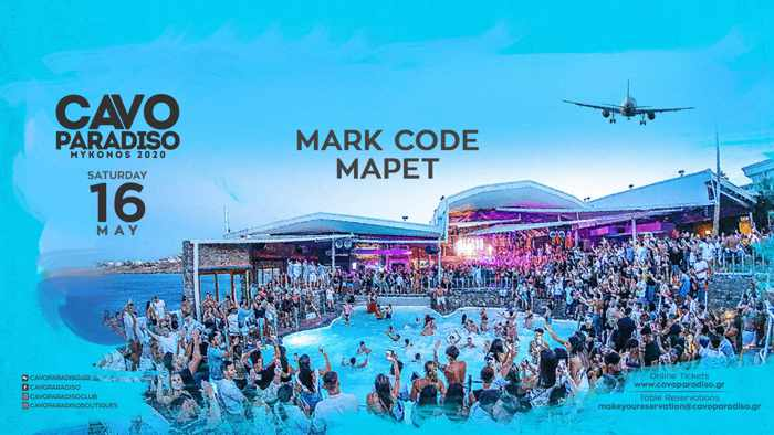 Cavo Paradiso Mykonos May 16 2020 party announcement