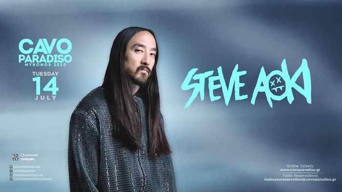Cavo Paradiso Mykonos presents Steve Aoki in Tuesday July 14