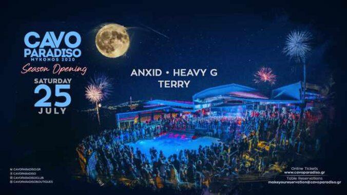 Cavo Paradiso Mykonos season opening party on July 25