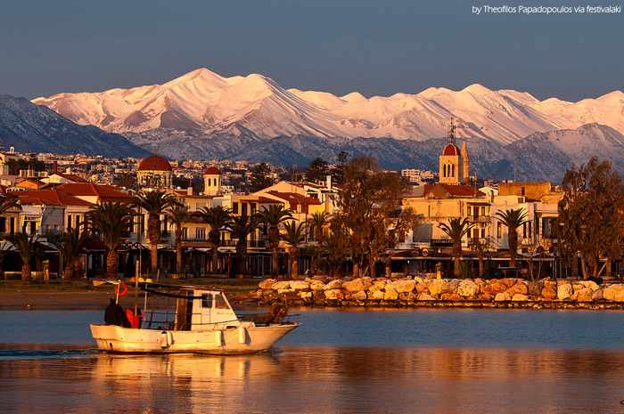 Rethymno Crete harbourfront photo from the Facebook page for Festivalaki Cretan festival of arts and culture